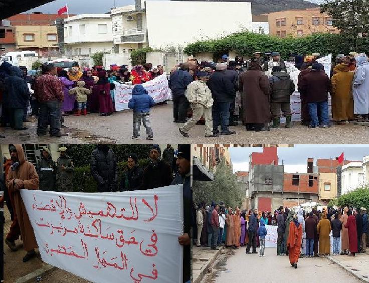 Photo of ساكنة تحجاويت في وقفة احتجاجية من أجل تزويد الحي بالكهرباء