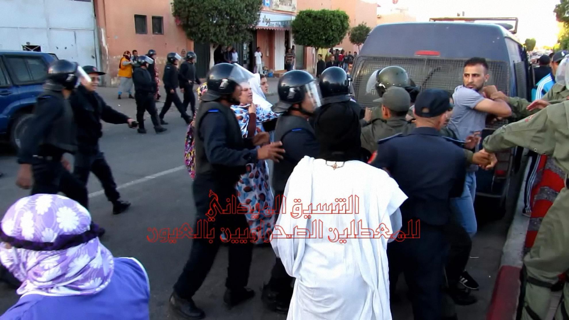 Photo of ملخص تقرير التنسيق الميداني للمعطلين الصحراويين بالعيون