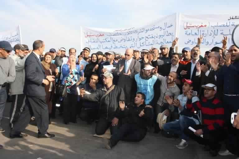 "Photo of إضرابات عمال مركب الحديد ""مغرب ستيل"""