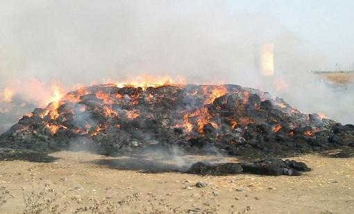 Photo of حريق يأتي عل أكثر من 70 (بالة تبن ) بمنطقة تالحيانت خنيفرة