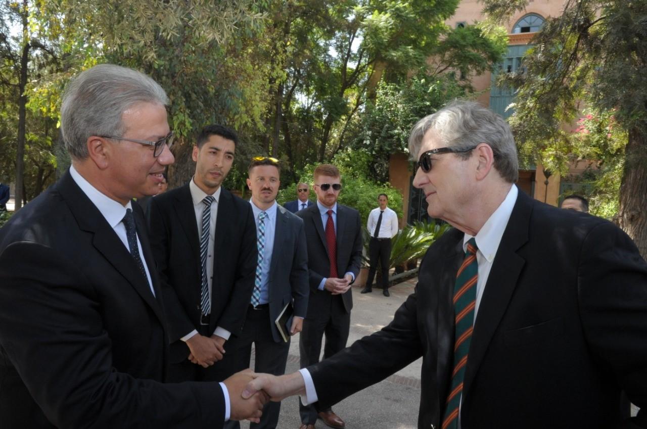 Photo of بلاغ حول لقاء والي جهة مراكش أسفي مع السيناتور رتشارد شيلبي
