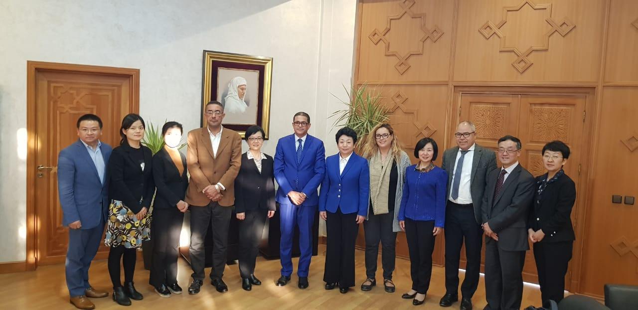 Photo of لقاء عمل بين مسؤولين من المغرب و من الصين