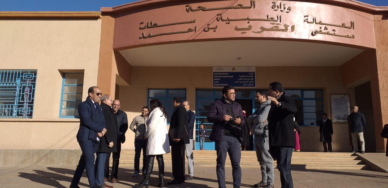 Photo of المديرة الجهوية للصحة في زيارة تفقدية لمستشفى القرب بمدينة ابن احمد