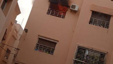 "Photo of الناظور/ حريق مهول في حي بويزازان سببه ""شارجور"" + فيديو"