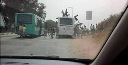Photo of حافلة للنقل الحضري بالقنيطرة تتعرض لهجوم بالأسلحة البيضاء