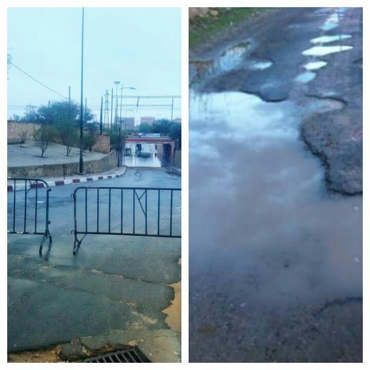 Photo of تساقطات مطرية تعرّي ما خفي في المشاريع البنيوية بمدينة اليوسفية