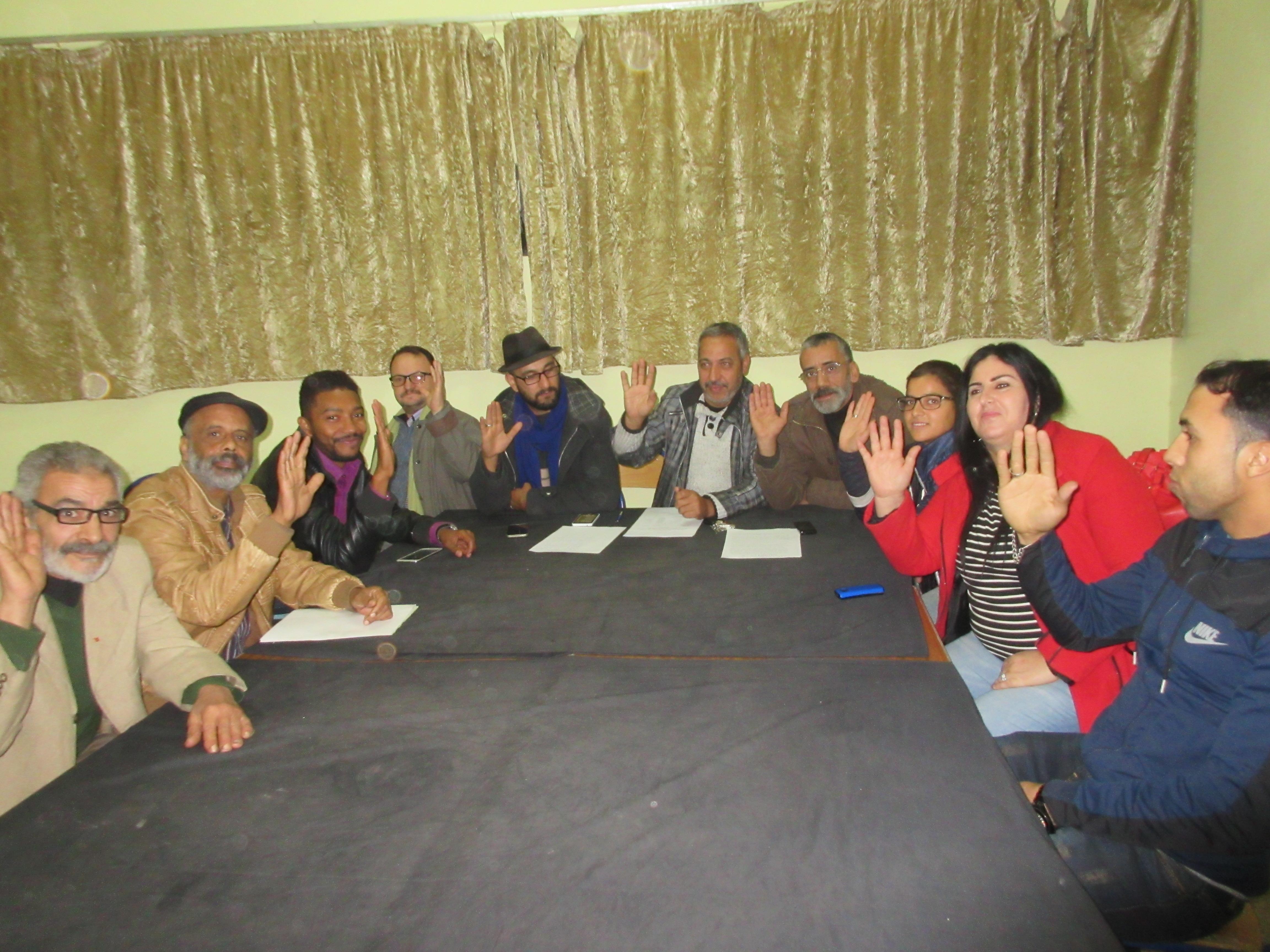 Photo of جمعية محترف فاس لفنون العرض المسرحي تجدد الثقة في السيد حميد الرضواني