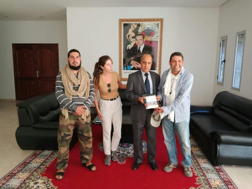 Photo of الدكتور عبد الرحمان ابهي عالم النيازك في ضيافة  عامل إقليم السمارة