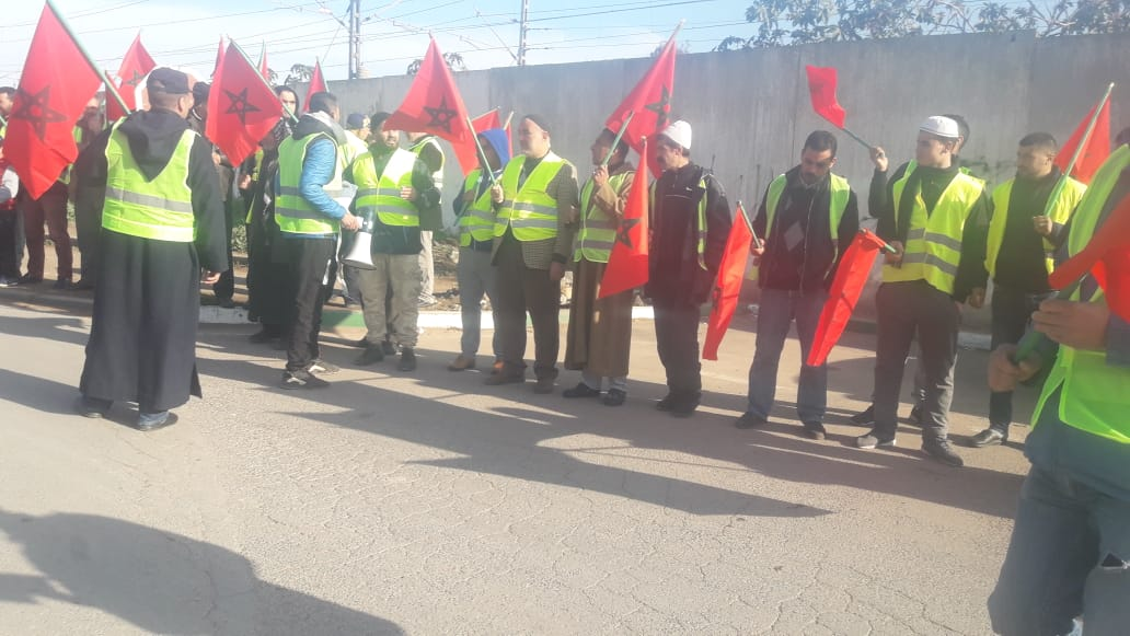 Photo of بوسكورة إقليم النواصر  / الجزارون  يحتجون أمام الجماعة