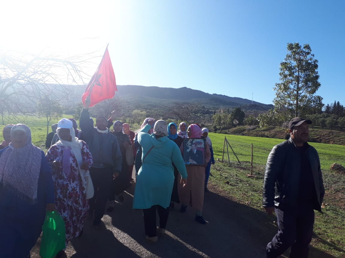 Photo of مركز الحمام / الحيف و الظلم يخرج نسوة القرية للاحتجاج
