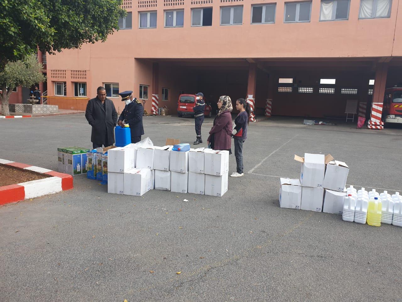 Photo of مراكش / الوقاية المدنية بالجهة تستفيد من معدات وقائية ومواد التعقيم